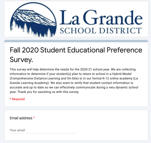 Fall 2020 Student Educational Preference Survey