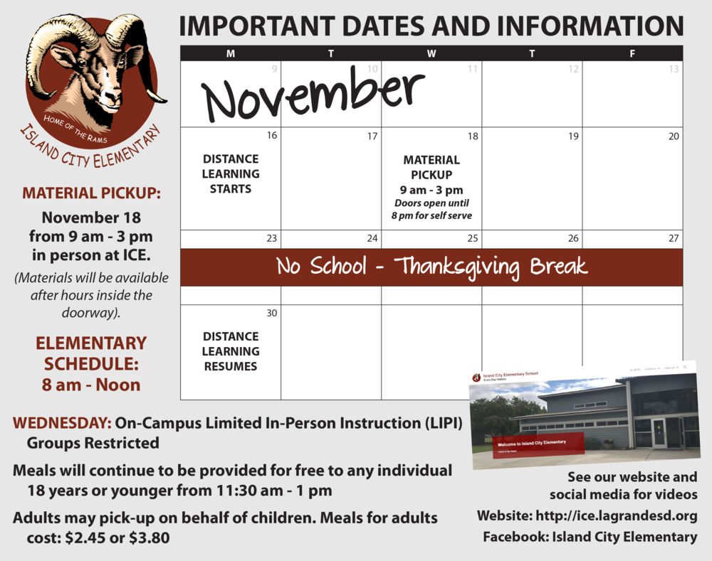 November Important Dates and Information