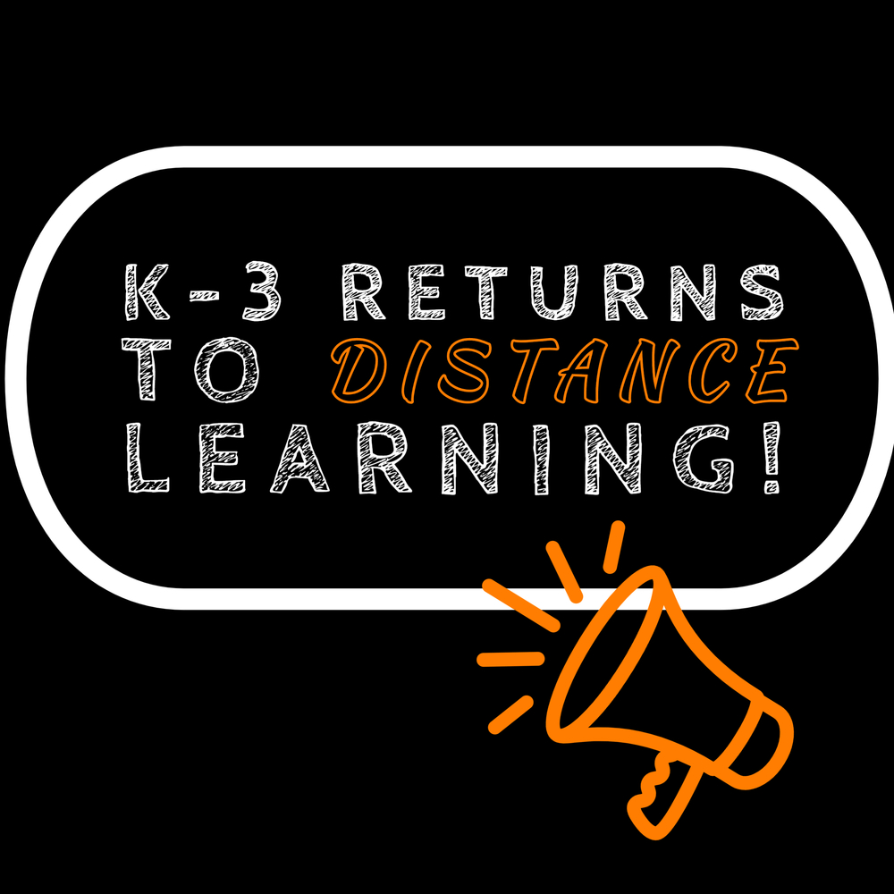K-3 Returns to Distance Learning