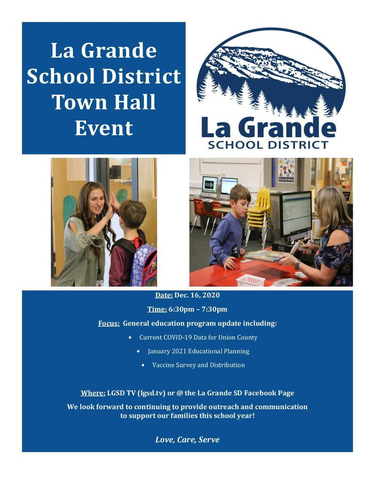 La Grande School District Town Hall Event