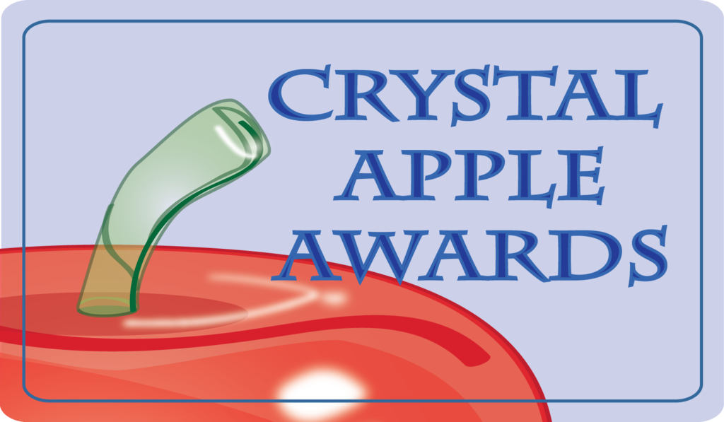 Image of a Crystal Apple Award