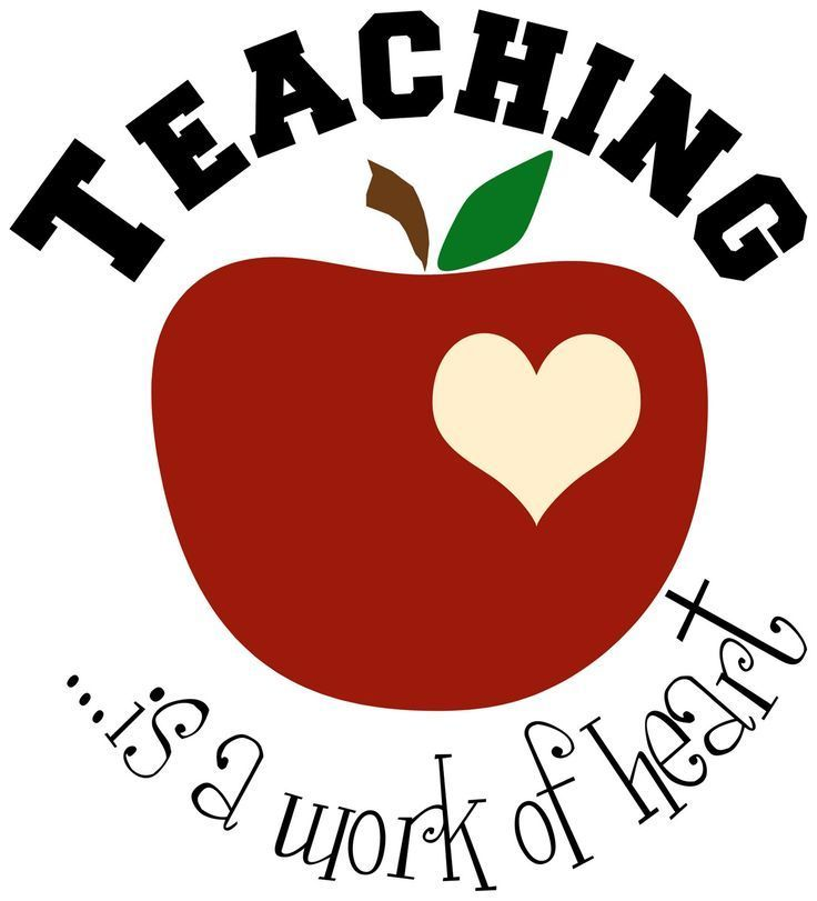 Teaching is a work of heart apple